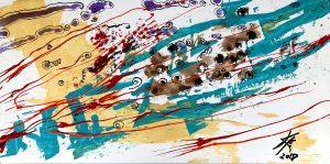 abstract acrylic painting computing