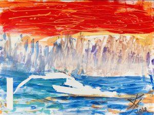 Glacier Bay abstract acrylic painting