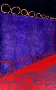 abstract economics mixed media painting