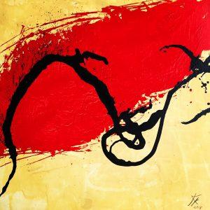 Zest acrylic painting